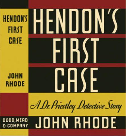 Rhode - Hendon's First Case US.JPG