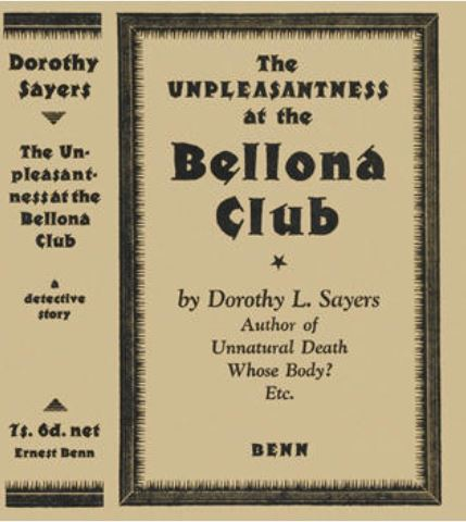 Sayers - The Unpleasantness at the Bellona Club